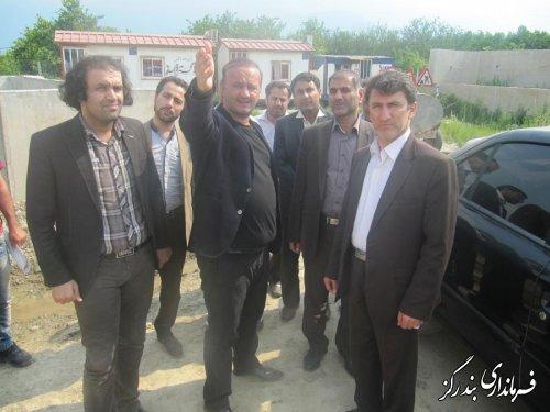 بازدید نماینده مردم در مجلس شورای اسلامی از پل روگذر لیوان شرقی