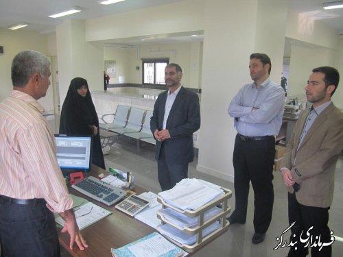 بازدید سرزده فرماندار از اداره تامین اجتماعی بندرگز