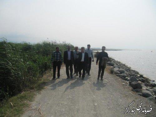 بازدیداعضای کارگروه استانی از طرح سالم سازی سواحل دریای بندرگز
