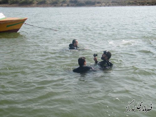 فرماندار بندرگز از دوره آموزش نجات غریق و غواصی بازدید کرد