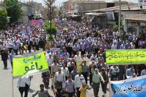 راهپیمایی ضد صهیونیستی مردم بندرگز در روز قدس برگزار شد