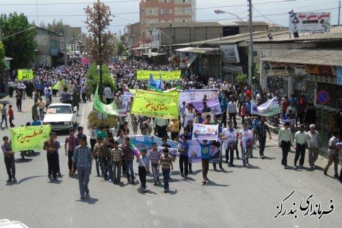 حضور باشکوه مردم بندرگز در راهپیمایی روز قدس
