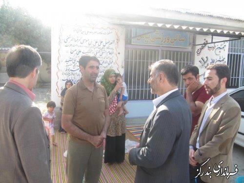 فرماندار بندرگز از ستاد اسکان مسافرین آموزش و پرورش بازدید کرد