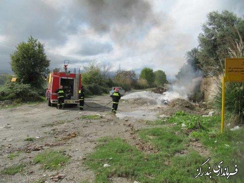 مانور مهار آتش سوزی در بندرگز برگزار شد