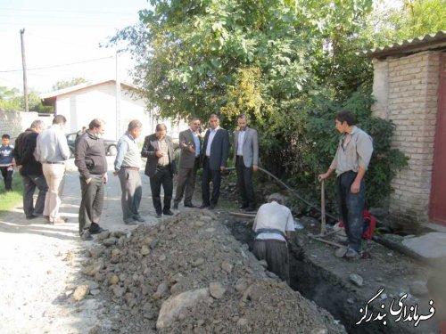بازدید فرماندار بندرگز از پروژه آب و فاضلاب روستایی