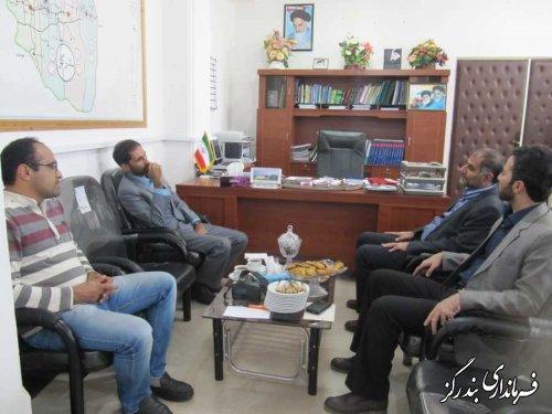 دیدار رییس خبرگزاری ایرنا در گلستان با فرماندار بندرگز