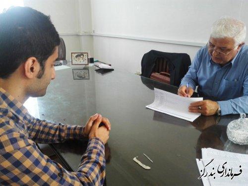 بازدید فرماندار بندرگز از ستاد سرشماری عمومی نفوس و مسکن شهرستان