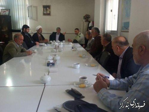 جلسه کمیته امنیت انتظامات انتخابات شهرستان بندرگز برگزارگردید
