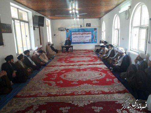 همایش  انتخاباتی علما و روحانیون  شهرستان بندرگزبا موضوع مشارکت حداکثری  برگزار شد