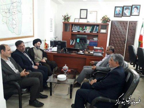 دیدار مدیرکل  سازمان تامین اجتماعی استان گلستان با فرماندار بندرگز