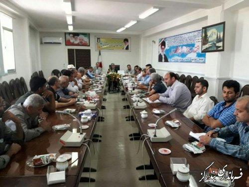 جلسه بررسی مسائل و مشکلات حوزه آرد و نان شهرستان بندرگز در فرمانداری برگزار شد