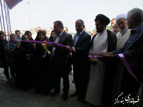 افتتاح نمایشگاه  تولیدات صنایع دستی و غذایی شهرستان بندرگزدر هفته دولت