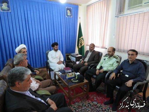 فرماندار و مدیران اجرائی شهرستان با امام جمعه بندرگز دیدار و گفتگو کردند