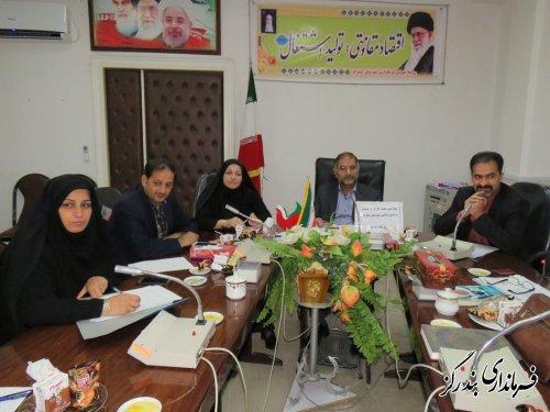 برگزاری چهارمین جلسه کارگروه سلامت و امنیت غذایی در فرمانداری بندرگز
