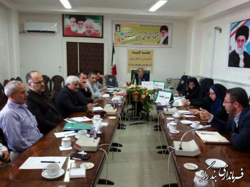جلسه مناسب سازی محیط و مبلمان شهری شهرستان بندرگزبرگزار شد