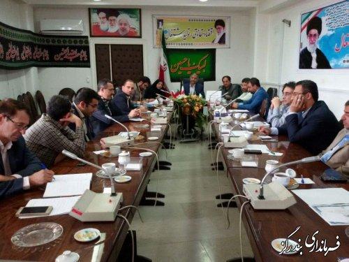 برگزاری دومین جلسه شورای پدافند غیر عامل شهرستان در فرمانداری بندرگز