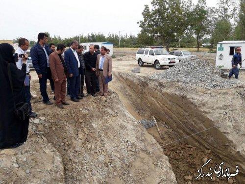 بازدید فرماندار شهرستان بندرگز از پروژه های فاضلاب و آبرسانی دهستان لیوان