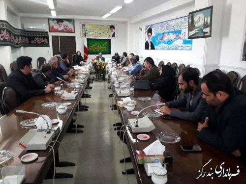 کارگاه آموزشی پدافند غیر عامل ویژه دهیاران و اعضای شوراهای اسلامی روستاهای شهرستان بندرگز