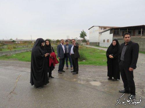 بازدید فرماندار بندرگز و مدیرعامل آب و فاضلاب گلستان از فاضلاب مسکن مهر