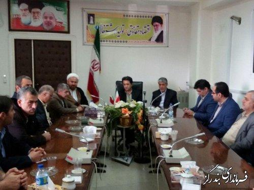 دیدار اعضای حزب اعتدال و توسعه شهرستان کردکوی با فرماندار شهرستان بندرگز