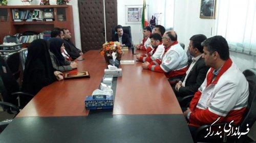 ریاست جدید هلال احمر شهرستان بندرگز معرفی شد