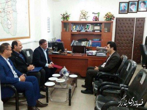 دیدار مدیرکل سازمان تامین اجتماعی گلستان با فرماندار بندرگز