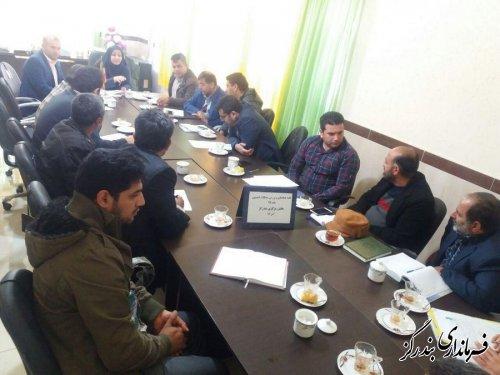 برگزاری جلسه پیشگیری از ساخت و سازهای غیر مجاز در بخشداری مرکزی بندرگز