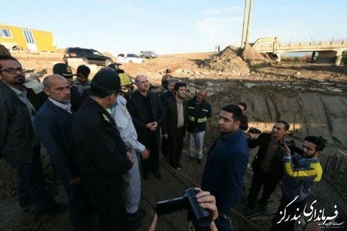 بازدید استاندار گلستان از پروژه خط آهن مسیر ریلی سبز دشت به بندرگز