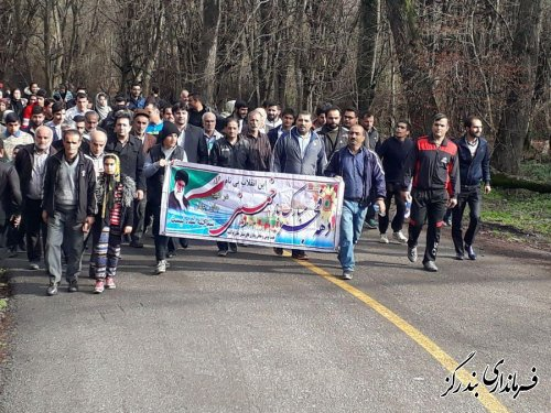 همایش پیاده روی خانوادگی در روستای لیوان شرقی برگزار شد