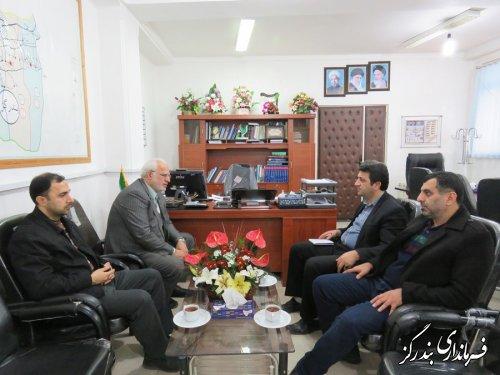 دیدار مدیرعامل شرکت گاز گلستان با فرماندار بندرگز