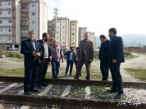 مديركل راه آهن شمال شرق ٢ از پروژه زيرگذر ضلع غربى شهر بندرگز بازدید کرد