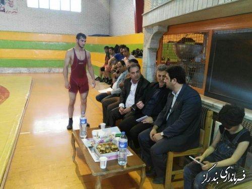 بازدید فرماندار بندرگز از اردوی تیم کشتی بزرگسالان گلستان برای حضور در رقابت های لیگ کشتی دسته یک کشور