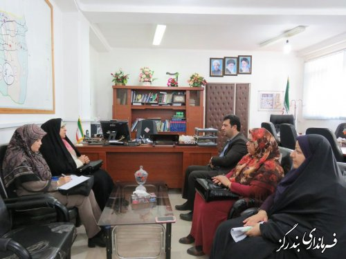 دیدار مدیرکل دفتر امور زنان و خانواده استانداری گلستان با فرماندار بندرگز