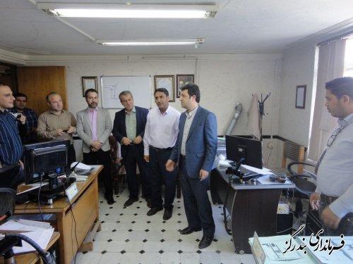 بازدید سرزده فرماندار بندرگز از اداره توزیع نیروی برق شهرستان