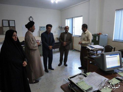 بازدید سرزده فرماندار بندرگز از کمیته امداد حضرت امام (ره)