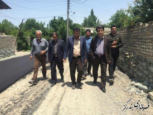 بازدید فرماندار بندرگز از اجرای فاز 2 طرح هادی روستای جفاکنده