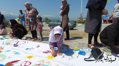 برگزاری مسابقه نقاشی مبارزه با اعتیاد ویژه کودکان در بندرگز