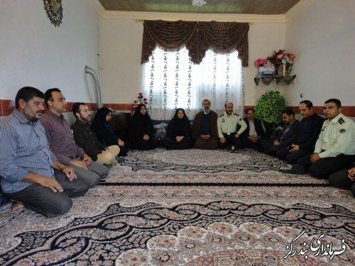 خانواده شهید مبارزه با مواد مخدر بندرگز تجلیل شد