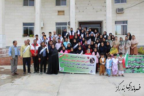 برگزاری آیین حمل مشعل سفیران سلامت در بندرگز