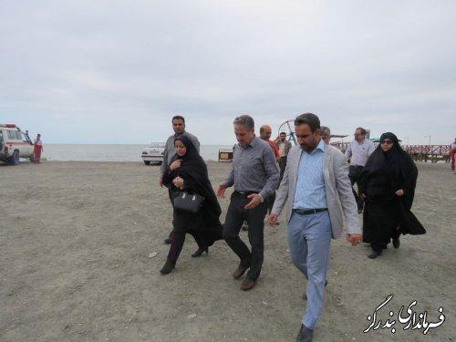 بازدید مدیرکل امور اجتماعی و فرهنگی استانداری از طرح سالمسازی دریا در بندرگز