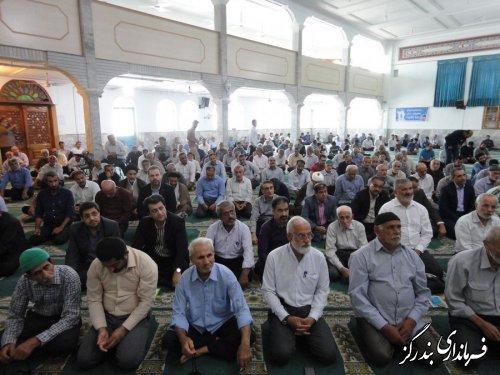 حضور فرماندار و مدیران اجرایی بندرگز در آیین عبادی سیاسی نمازجمعه