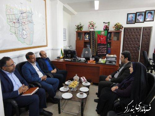 دیدار مدیرکل امور مالیاتی گلستان با فرماندار بندرگز