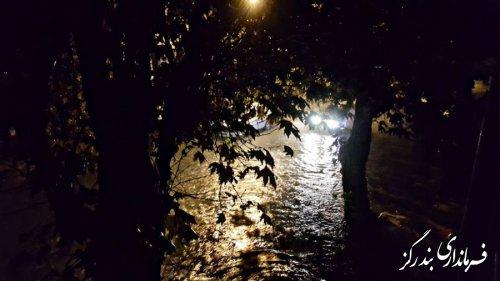 بارش شدید باران باعث آبگرفتگی شهر و روستاهای بندرگز شد