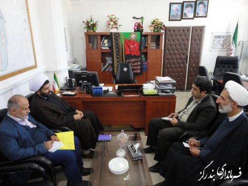 مدیرکل اوقاف و امور خیریه گلستان با فرماندار بندرگز دیدار کرد