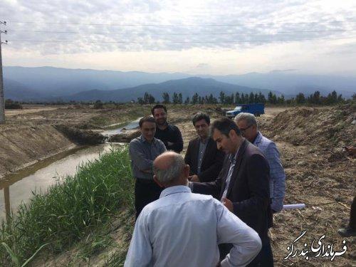 فرماندار بندرگز از روند اجرای عملیات زهکشی اراضی ساحلی در شهرستان بازدید کرد