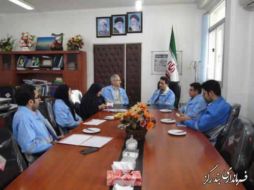 دیدار مدیرکل مدیریت بحران گلستان با فرماندار بندرگز