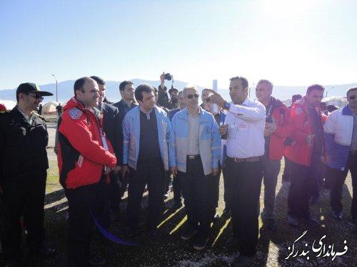 مانور زلزله با رویکرد امداد رسانی بر جوامع بشری در بندرگز برگزار شد