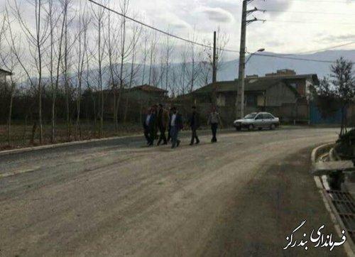 بازدید از طرح هادی روستای کارکنده