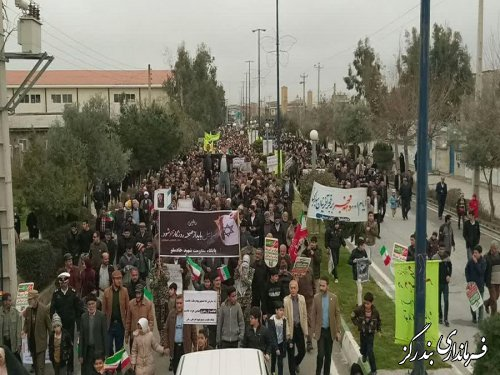 راهپیمایی یوم الله 22 بهمن در بندرگز برگزار شد