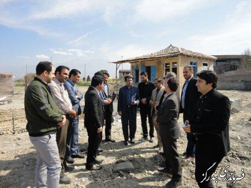بازدید فرماندار بندرگز از روند راه اندازی کمپ گردشگری و نوروزگاه نوکنده
